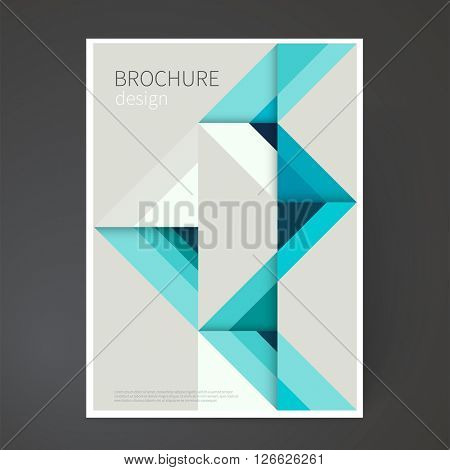 Cover design template. Brochure, leaflet, flyer, catalog, page, poster design. Origami abstract geometric background.  minimalistic design creative concept.  vector-stock illustration EPS 10