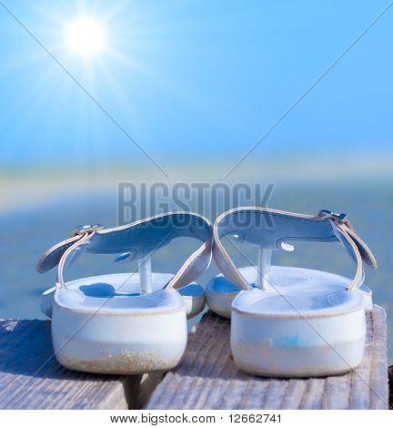 My white cute Sandals