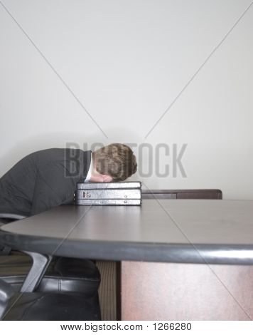 Businessman Sleeps