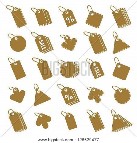 Tag icons isolated on white background vector set retail theme simplistic symbols vector collections.