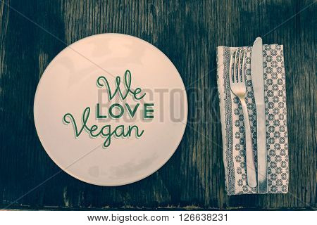 Vegan Lifestyle Table And Kitchen Tools Top View