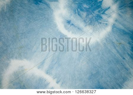 Tie dyed with natural colors Background texture