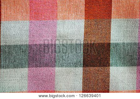 Background Colorful Striped loincloth fabric of Thailand.