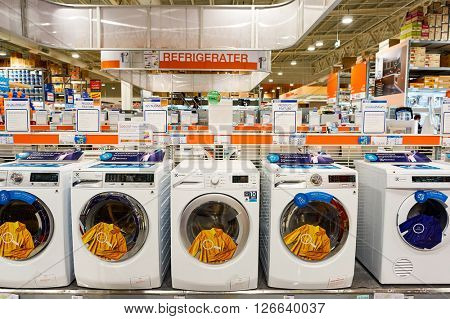 PATTAYA, THAILAND - FEBRUARY 24, 2016: inside HomePro store. The store provide advice and facilities for installation and maintenance of a wide range of domestic features