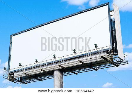 huge white blank billboard