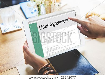 Users Agreement Terms and Conditions Rule Policy Regulation Concept