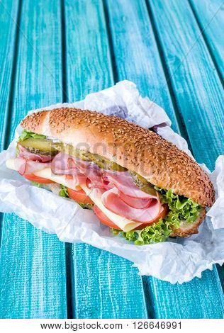 Served Submarine Sandwich
