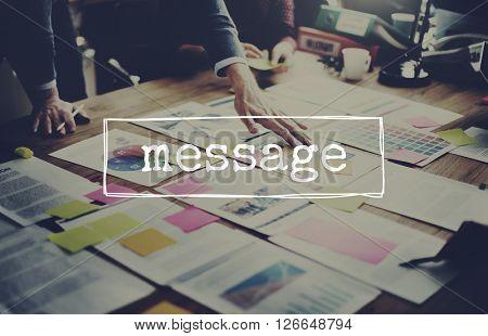Message Communication Mail Connection Concept
