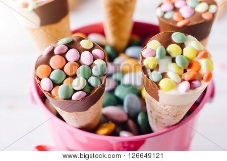 Ice Cream In Baskets