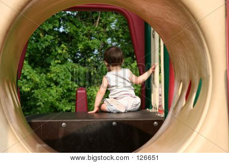 Baby Girl At Playground