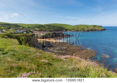 Uk south coast Hope Cove Devon near Salcombe in summer