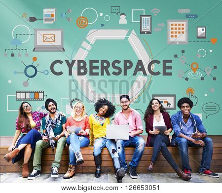Cyberspace Technology Global Connection Digital Concept