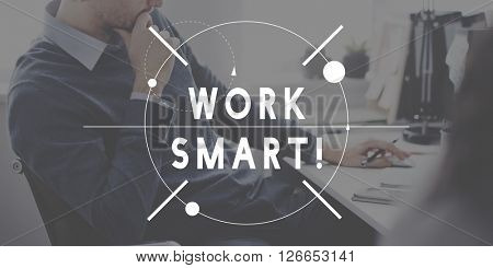 Work Smart Hard Management Productivity Concept