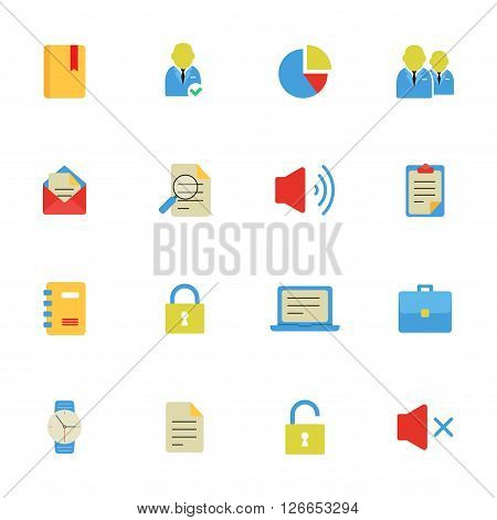 eps 10 vector icons business theme flat icon