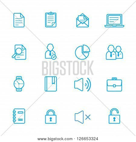 eps 10 vector icons business theme line icon
