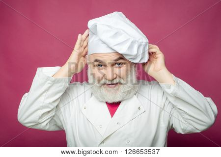 Cook Man In Chef Hat