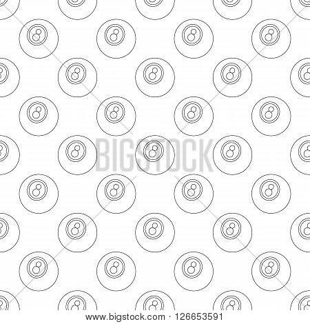 Eightball pattern seamless black for any design