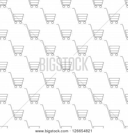 Shopping cart pattern seamless black for any design