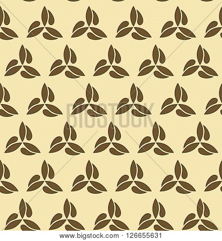 Seamless vector ornament. Modern geometric pattern with repeating brown elements
