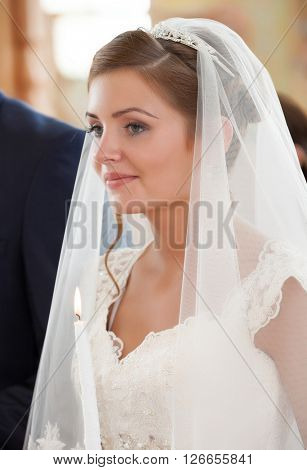 bride on ceremony of wedding
