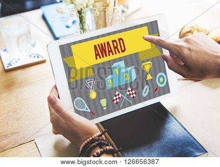 Award Ceremony Certification Challenge Win Concept