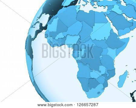 Africa On Translucent Earth