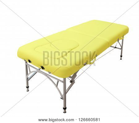 Massage medical bed isolated on white background
