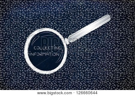 Messy Binary Code Analyze By Magnifying Glass, Collecting Information