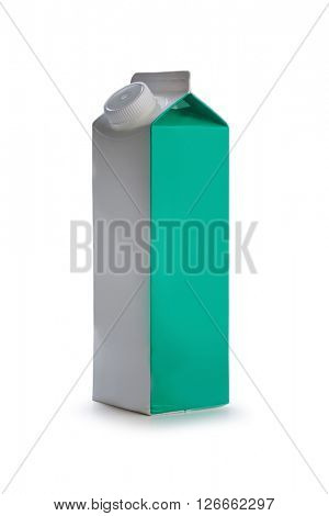 paper milk container isolated on white