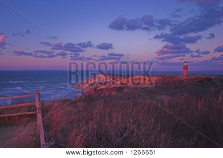 Aquinnah Sunset And Lighthouse, Martha'S Vineyard