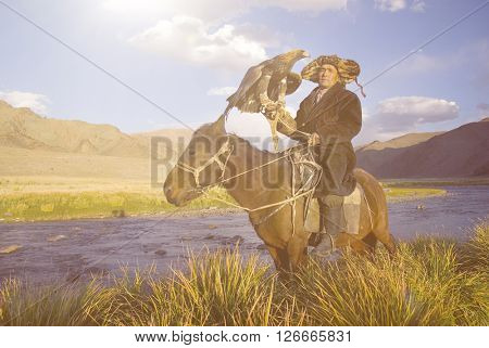 Kazakh with Trained Eagle Concept