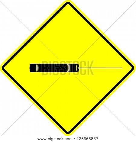 laser pointer sign