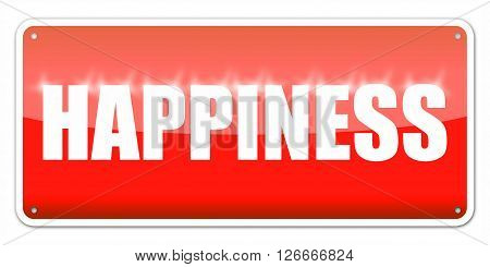 Red card Happiness isolated over white background