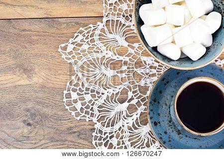 Cocoa, Coffee with Marshmallows Sweet Food Studio Photo
