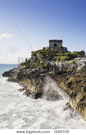 Mayan Archaeological Site Of Tulum
