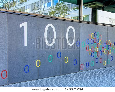 Zurich, Switzerland - 20 April, 2016: wall of the Google office building. Google is a multinational technology company specializing in Internet-related services and products.