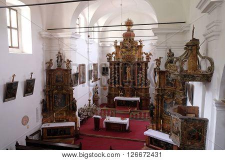 KOTARI, CROATIA - SEPTEMBER 16: Church Leonard of Noblac in Kotari, Croatia on September 16, 2015.