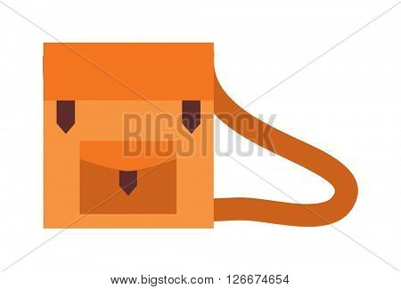 Businessman holding work briefcase vector illustration.