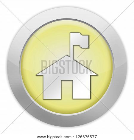 Icon Button Pictogram with Ranger Station symbol