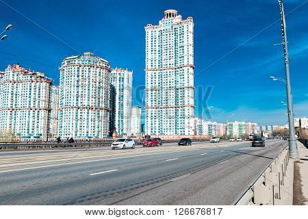Moscow Russia - April 17 2016: Residential complex