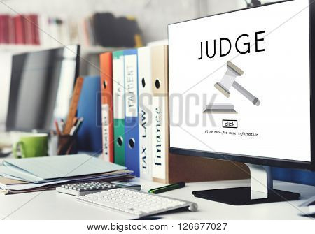 Judge Justice Judgment Legal Fairness Law Gavel Concept