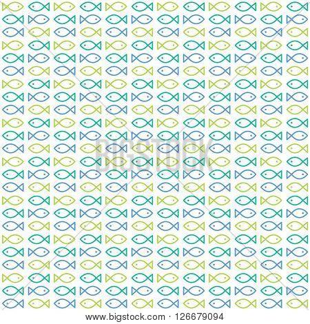 Fish seamless pattern - Design element