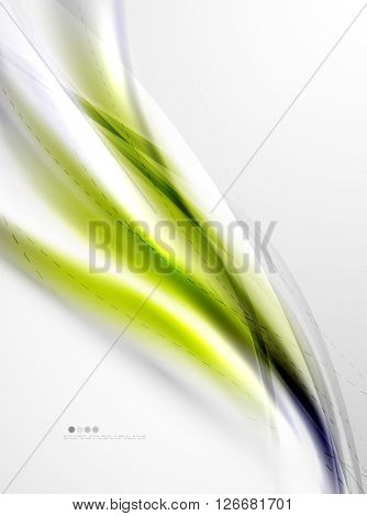 Yellow wave abstract background. Vector modern template