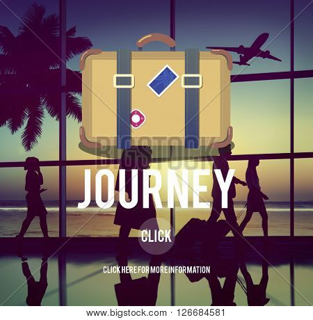 Holiday Travel Trip Journey Bag Symbol Concept