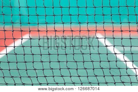 Net For Playing Tennis On Outdoor Court