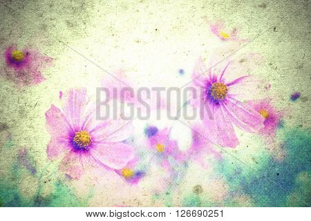 Photo flowers on a vintage  background