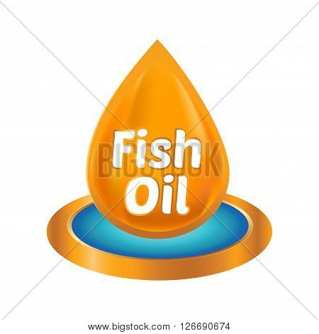 Vector stock of 3D fish oil ingredients icon