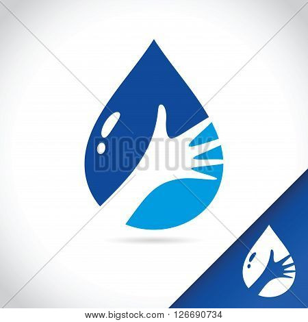 Vector stock of hand holding water drop logo template
