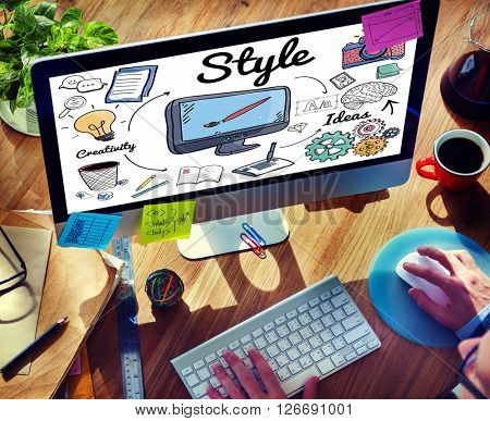 Style Design Elegant Posh Trends Vogue Character Concept