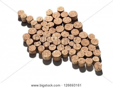 grape made with cork caps